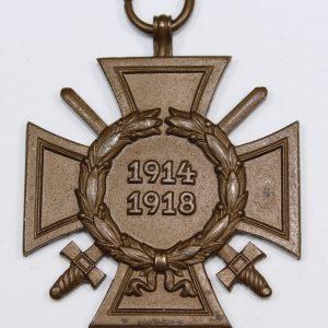 cruz de honor hindenburg con espadas