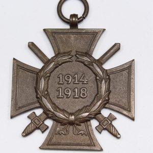 cruz de honor hindenburg con espadas 1914 1918