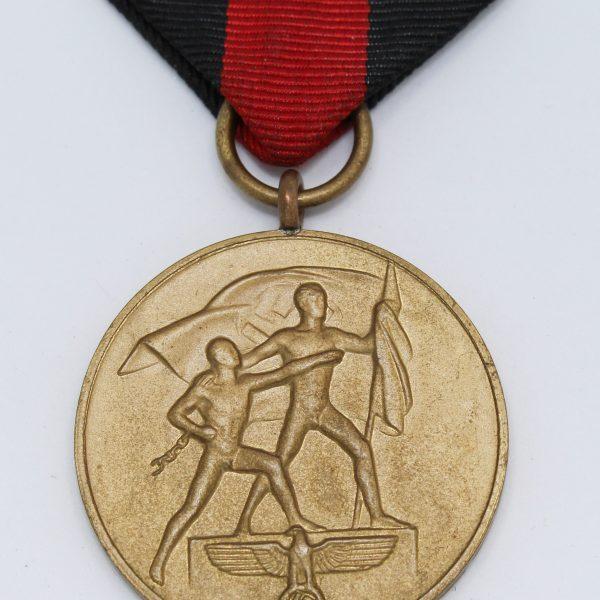 medalla invasion de los sudetes