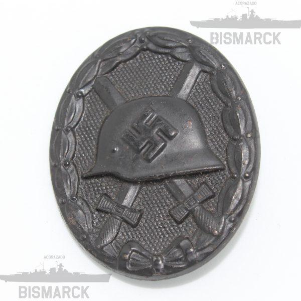 distintivo herido en negro