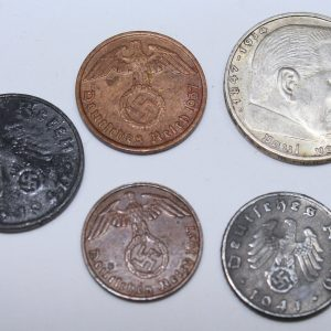 lote 5 monedas del iii reich