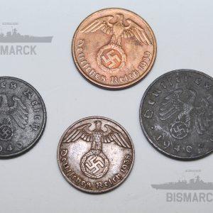 lote 4 monedas iii reich
