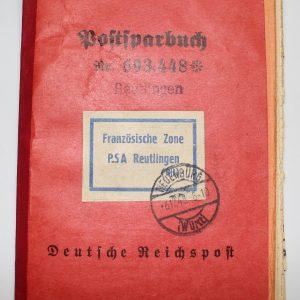 postsparbuch deutsche reischspost