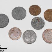 Lote 8 monedas del Tercer Reich