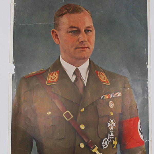 Cartel retratro del SA Stabschef Viktor Lutze