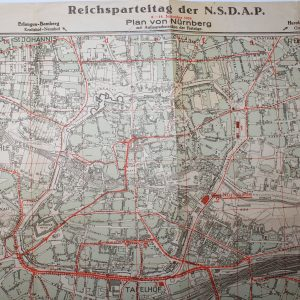 Mapa Nüremberg Congreso del NSDAP 1936