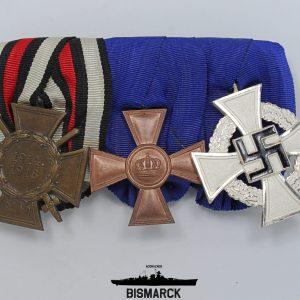 Pasador de Gala con tres medallas
