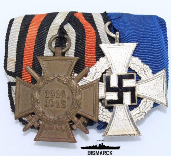 Pasador de Gala con dos medallas