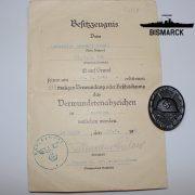 Insignia Herido en negro con concesión