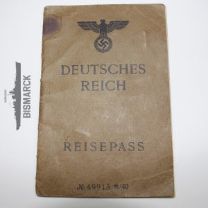 Pasaporte Reisepass Tercer Reich 1944