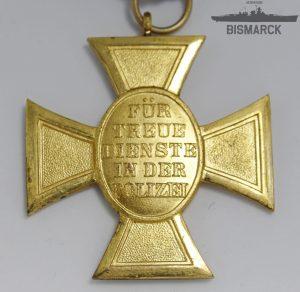 Medalla 25 años de Servicio en la Policía