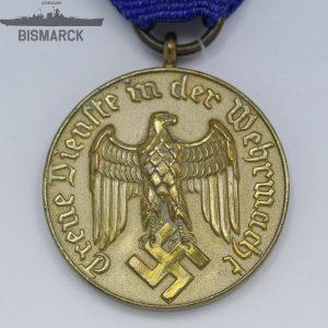 Medalla Largo Servicio en la Wehrmacht 12 años