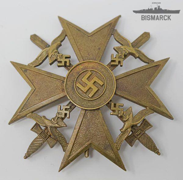 Cruz de España con Espadas en Bronce