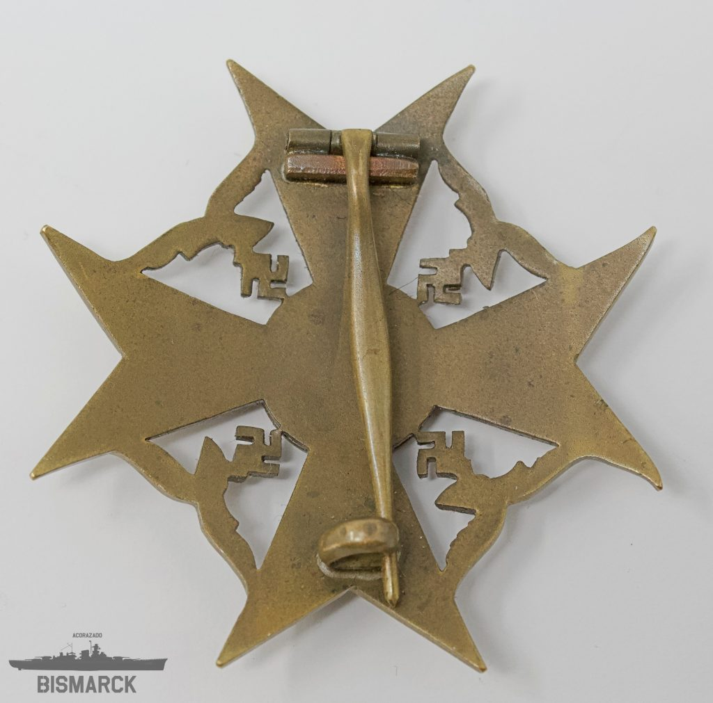 Cruz de España sin Espadas en Bronce