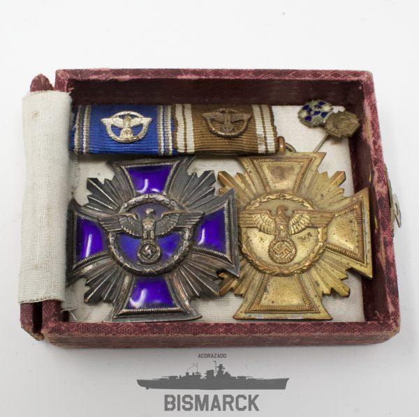 Medallas Largo Servicio en el NSDAP 10 y 15 años