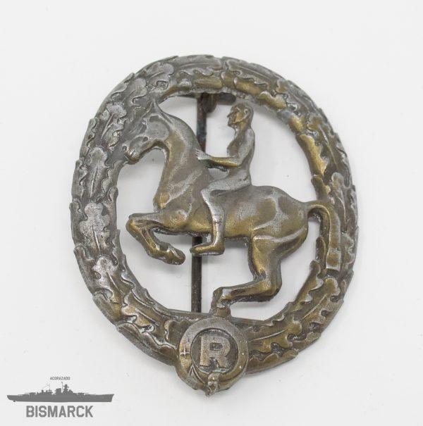 Distintivo Jinete en bronce