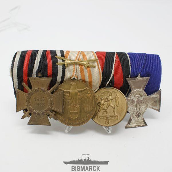 Pasador 4 Medallas Policia del Reich