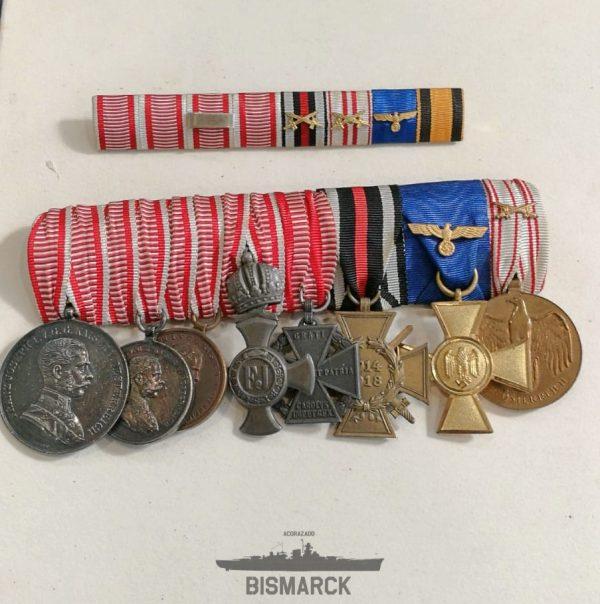 Pasador 8 Medallas Primera Guerra Mundial
