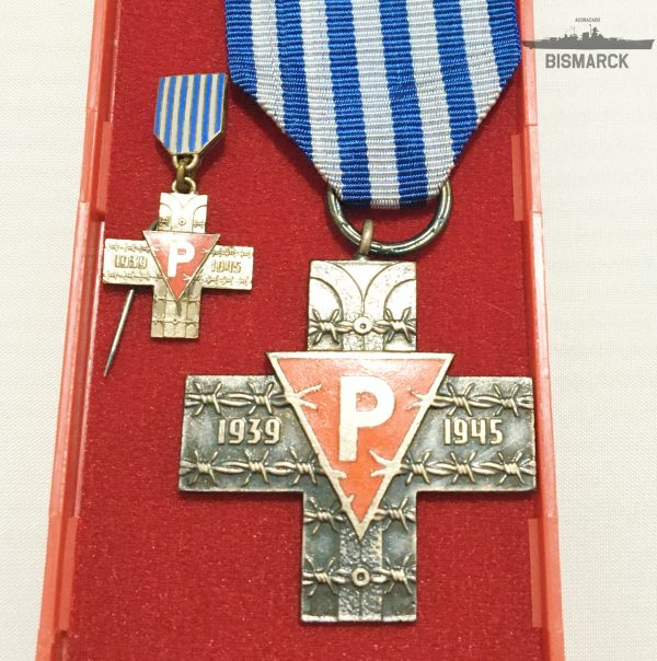 Medalla Cruz deAuschwitz PRL 1939 1945