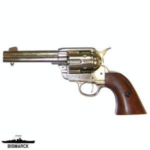 revólver cal. 45 peacemaker plateado
