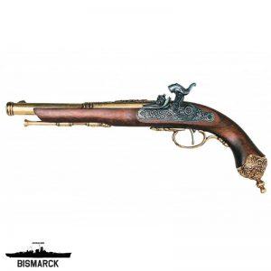 pistola percusión de brescia dorada