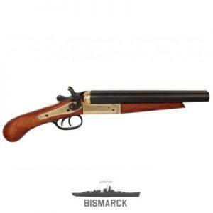 pistola 2 cañones recortados