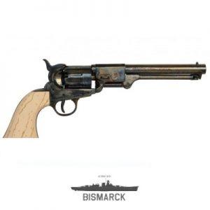 revólver confederado marfil