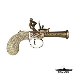 pistola de chispa inglesa marfil