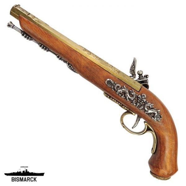 Pistola de duelo 1810 dorada