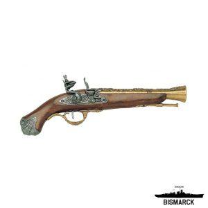 Pistola de chispa Inglaterra dorada