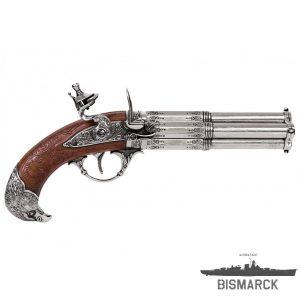 Pistola de 4 cañones giratorios
