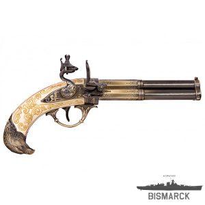 Pistola de 3 cañones giratorios