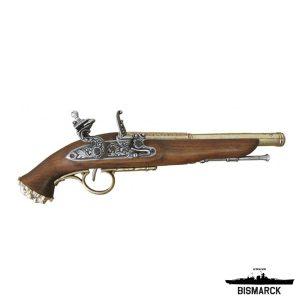 Pistola chispa pirata siglo XVIII