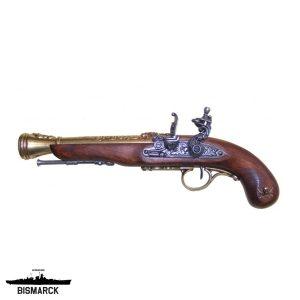 Pistola de chispa pirata zurdo