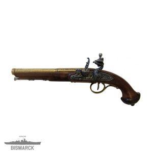 Pistola de chispa siglo XVIII