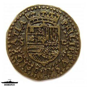 Doblón de oro 2 escudos