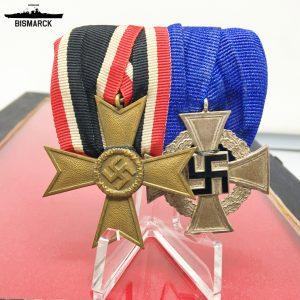 Pasador de Gala dos medallas Tercer Reich